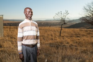 """<strong>'I got silicosis from working on the gold mines'<br></strong>Alloys Msuthu, 60, from <a href=""""http://www.matatiele.gov.za/"""">Matatiele</a>, Eastern Cape worked in the mines for 32 years, and later developed stage 2 silicosis. Symptoms include breathlessness, coughing and weakness or tiredness<br>"""