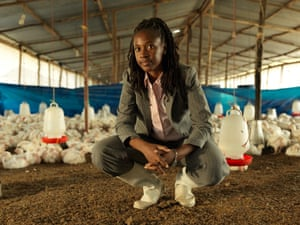 Rose Sweya, owner of Kingchick chicken farm in Kigamboni district, Dar es Salaam