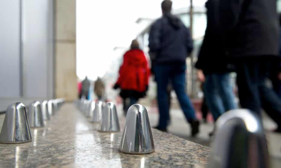 Metal spikes installed to deter rough sleepers in Manchester city centre.