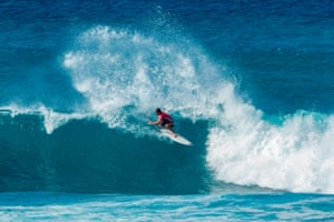 Hawaii, US. Australia's Jack Robinson competes during the Sunset Beach Pro surfing event on the north shore of Oahu