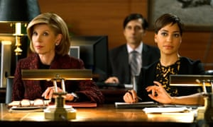 A scene from The Good Fight, with Christine Baranski as Diane Lockhart and Cush Jumbo as Lucca Quinn.