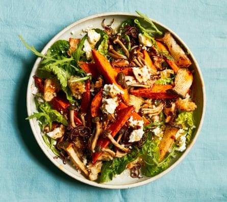 Thomasina Miers' mushroom and sweet potato salad