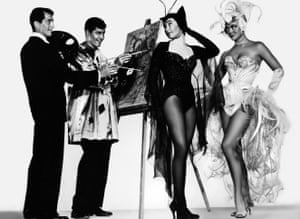 Dean Martin, Jerry Lewis, Shirley MacLaine and Dorothy Malone in Artists and Models (1955).