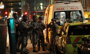 Counter-terrorism special forces are seen at London Bridge on June 3, 2017 in London.
