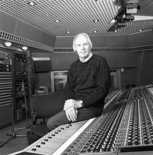 Martin at Air Studios in London in the 80s.