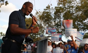 Andrew Gillum said: 'I would conclude that the president is in some ways complicit in the deteriorated rhetoric that is leading people to resort to political violence.'