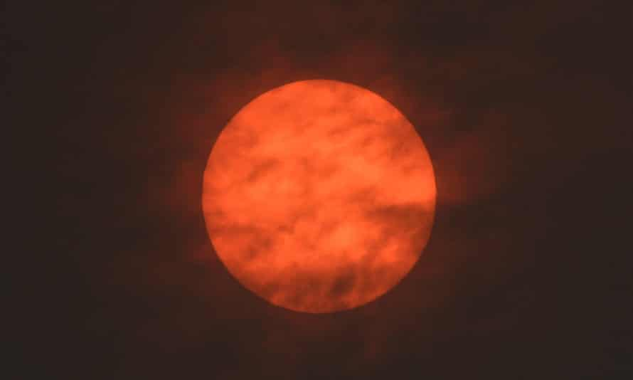 The sun is seen after dawn near Exeter