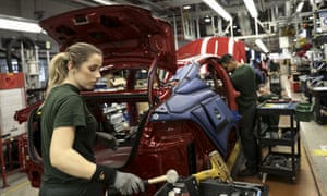 Worker at a Tata Motors Jaguar assembly plant in Castle Bromwich.