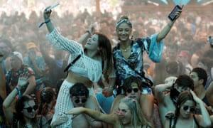 Sensory thrills … US festivalgoers.