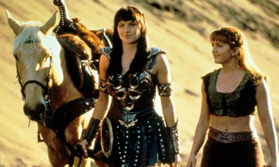 It takes two … Lucy Lawless, Renee O'Connor in Xena.