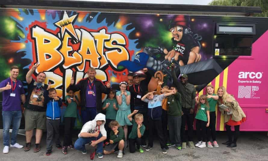 A Northern Soul … kids and tutors with their Beats Bus in Hull.