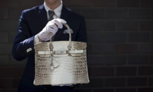 The Hermes diamond and Himalayan nilo crocodile Birkin handbag. It's a steal ...