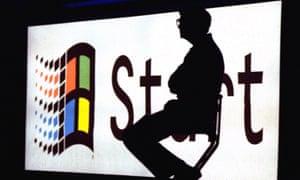 Microsoft chairman Bill Gates at a 1995 product launch
