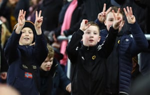 Young Wolverhampton Wanderers remind Southampton fans that they were 2-0 up before losing 3-2.