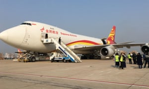 This Suparna Airlines flight was the first international commercial freight flight after Wuhan lockdown ended in April 2020. It was loaded with 70 tonnes of anti-epidemic supplies on their way to Australia.