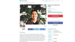 Ismael Chamu, a UC Berkeley student, was able to raise money to help find a home.