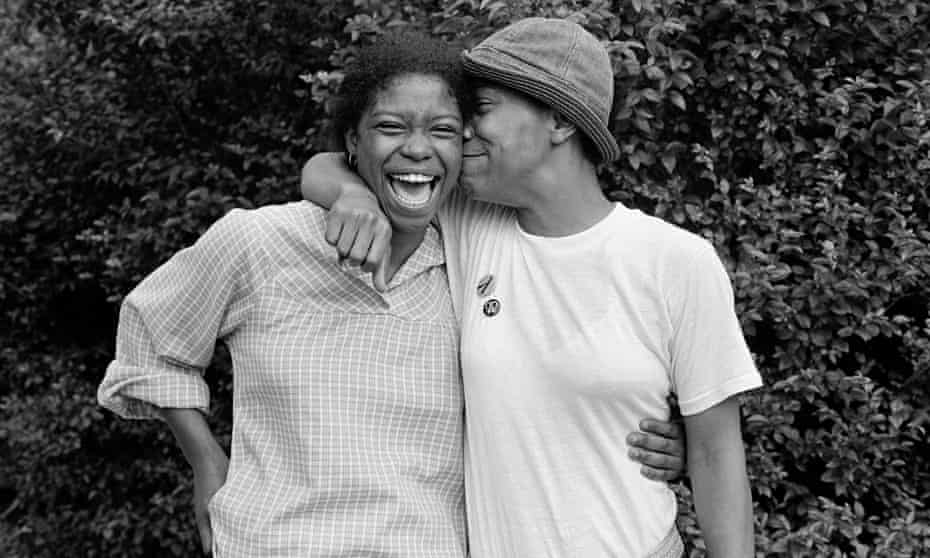Baltimore couple Gloria and Charmaine, 1979, from the book Eye to Eye.