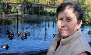 Dominique Douthe with ducks in the background