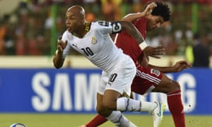 Ghana manager Avram Grant will be hoping that Andre Ayew, left, is able to reproduce his best form after an injury-riddled few months at West Ham.