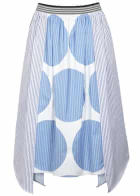 Stella McCartney at Harvey Nichols - Marianna striped cotton midi skirt - WAS £395 NOW £197.50