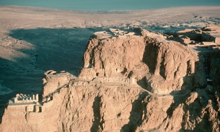 The fortress of Masada in Israel.