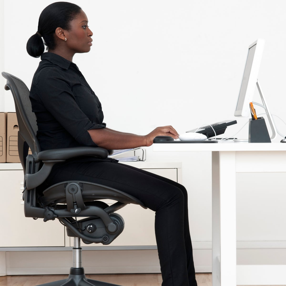 How To Sit Properly At Work Health Wellbeing The Guardian