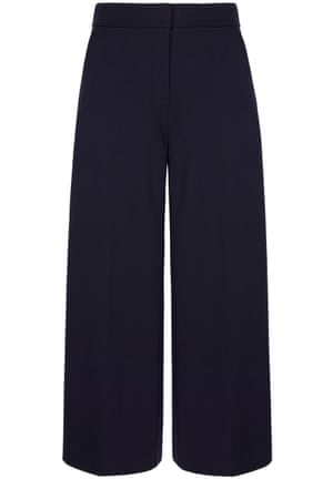 Navy trousers Skim your ankles with a generous cut. £70, boden.co.uk