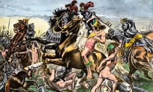 Sword: Manco Inca Yupanqui leads an attack on the Spanish in Cusco, Peru in 1536.