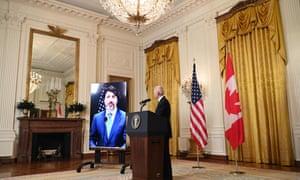 """The United States has no closer friend than Canada,"" Biden said."