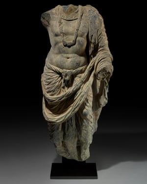 A torso found with the sculptural heads