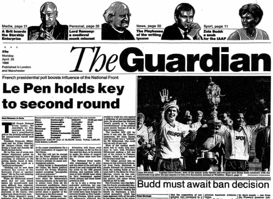 The Guardian, 25 April 1988.