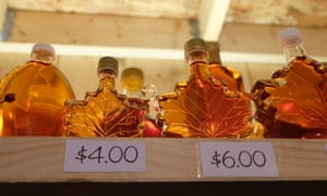 Maple syrup for sale.