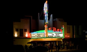 "Exterior of  ""El Rey"" theater on Wilshire Boulevard, Los Angeles,"