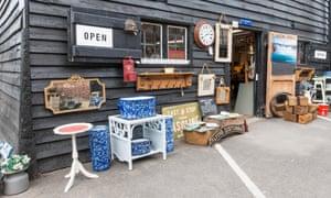 Antique shop at Standard Quay, Faversham Kent