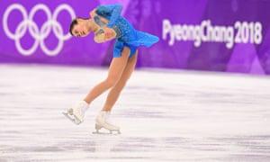 Japan's Satoko Miyahara competes.