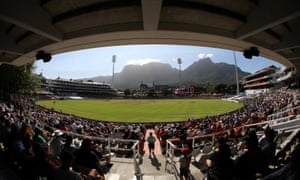The Newlands stadium in Cape Town, South Africa.