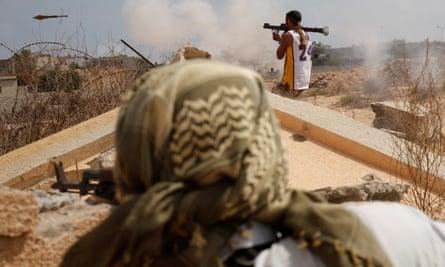 Fighting to retake Sirte in July 2016