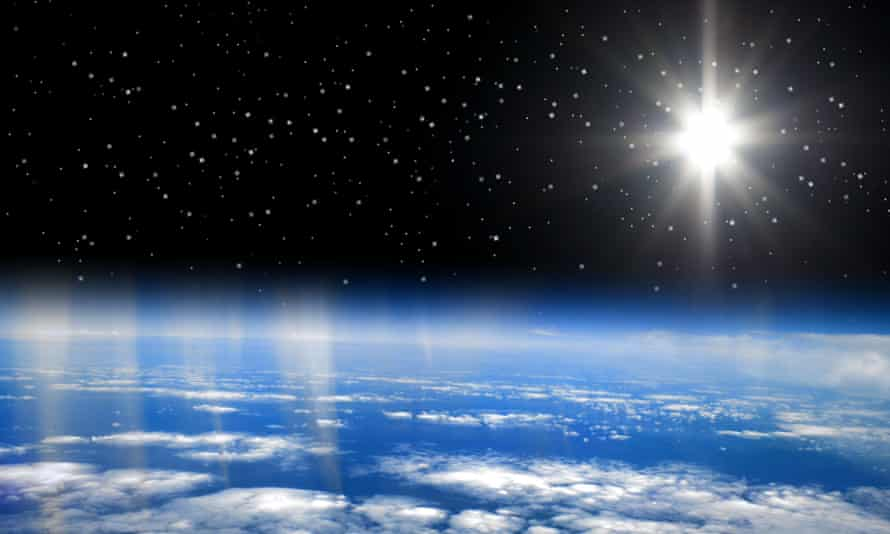 A view of Earth from outer space