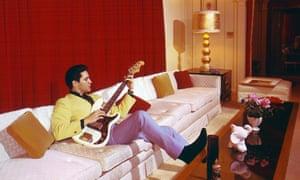 Elvis Presley at Graceland, Memphis in 1965.