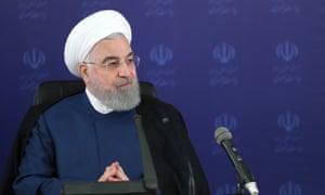 Hassan Rouhani in Tehran, Iran, on 23 May.