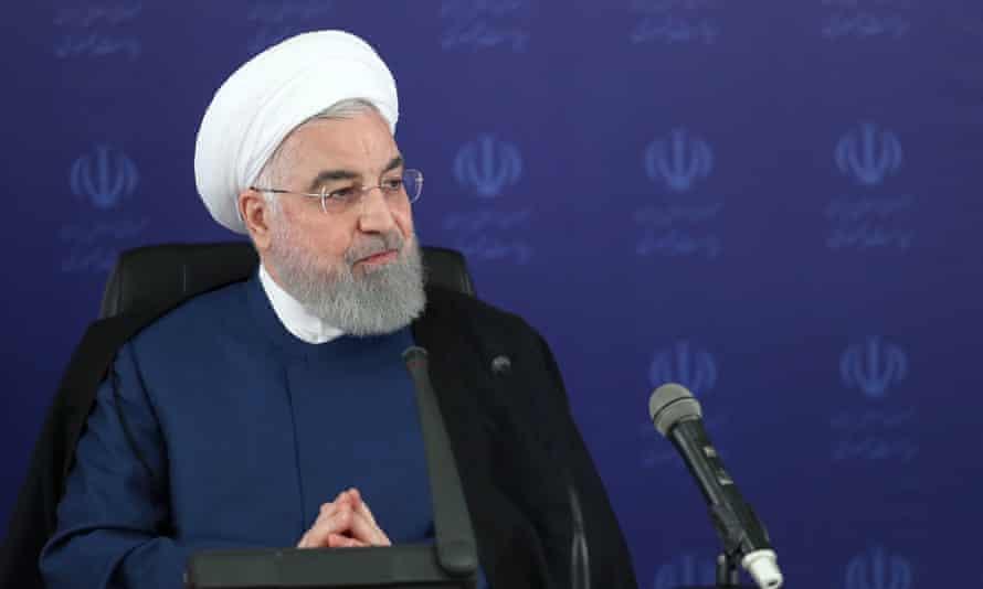 Hassan Rouhani in Tehran, Iran, on 23 May.