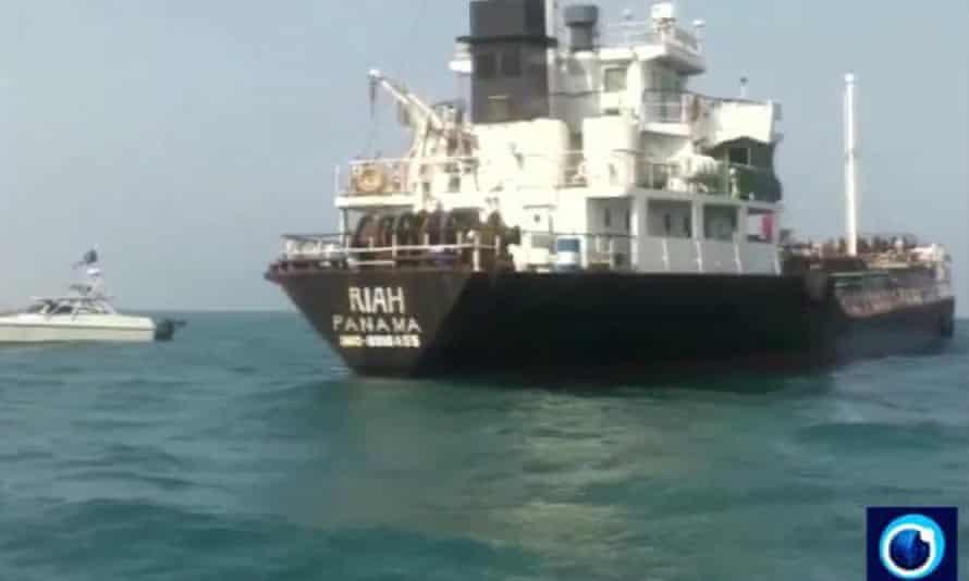 the Panamanian-flagged oil tanker MT Riah