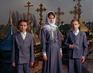 The Choir at Kiev Pechersk Lavra Orthodox Church (Moscow Patriarchate), 2017