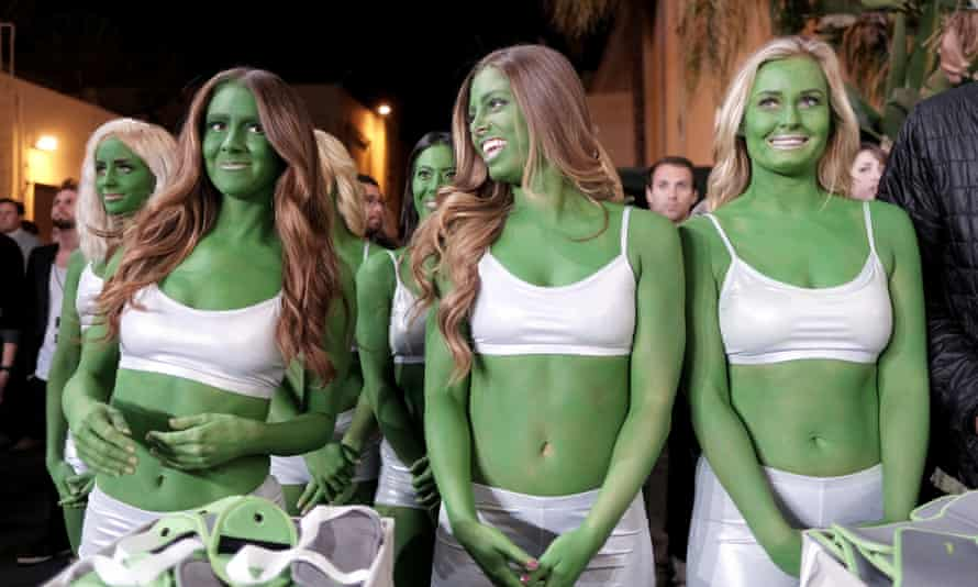 Green women are seen during the Star Trek Beyond fan event at Paramount Pictures Studios on 20 May in Hollywood.
