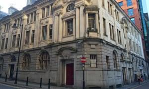 The stock exchange building on Norfolk Street