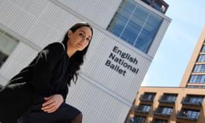 Tamara Rojo outside ENB's new headquarters