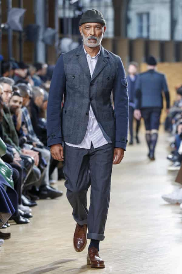 Get the look: on the catwalk at Junya Watanabe.
