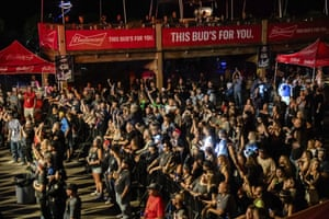 Fans attend a performance by Saul at the Iron Horse Saloon during the Sturgis Motorcycle Rally, in Sturgis, South Dakota.