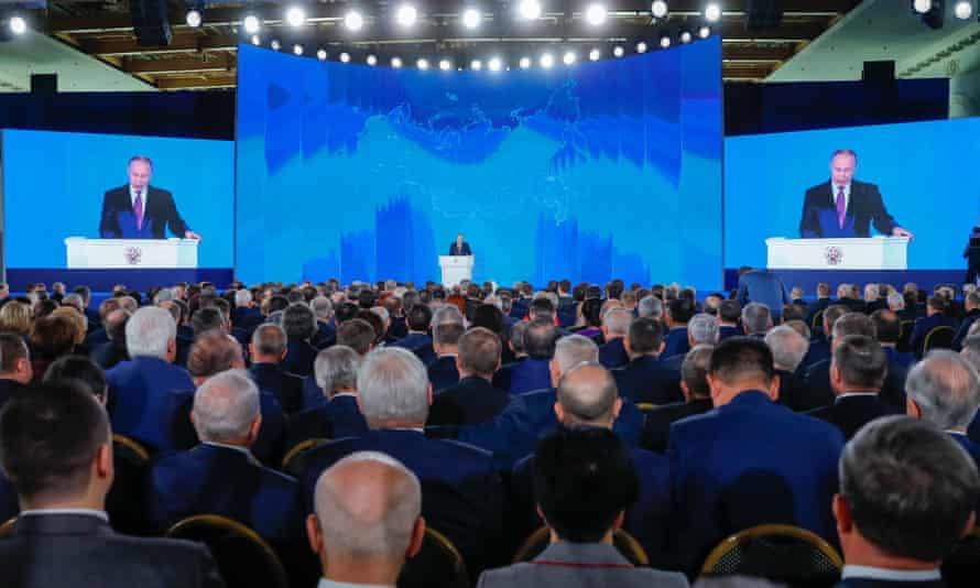 Vladimir Putin speaking