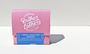 Shampoo handmade in the UK, palm olive free and packaged in cardboardRather Lather shampoo bar, £5.95, Pasoluna